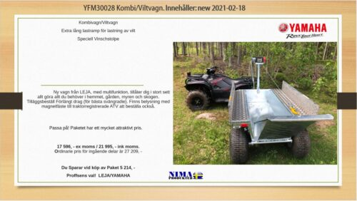 YFM30028 Kombi/viltvagn