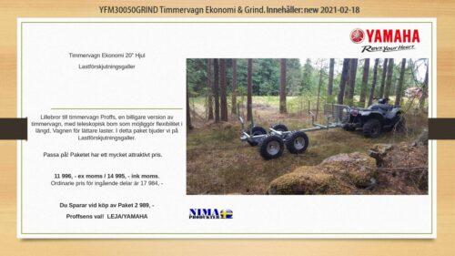 YFM30050KOMP1 Timmervagn ekonomi med grind