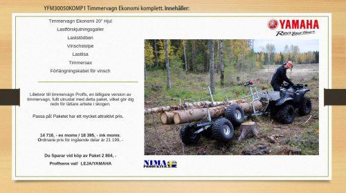 YFM30050KOMP1 Komplett Timmervagn Ekonomi