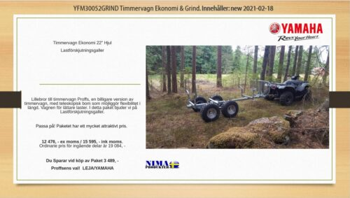 YFM30052GRIND Timmervagn ekonomi med grind