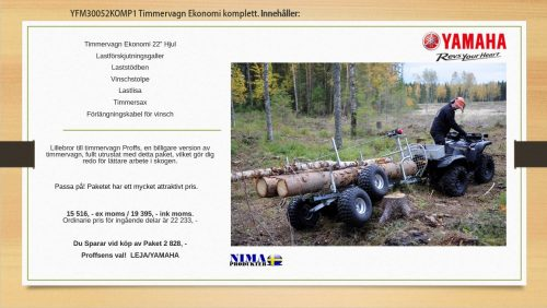 YFM30052KOMP1 Komplett Timmervagn Ekonomi