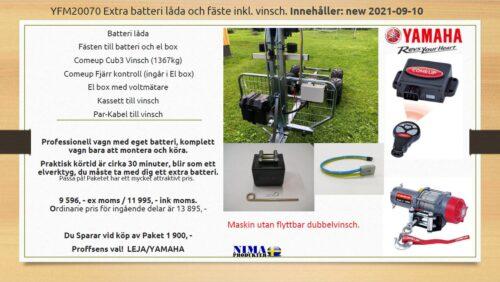 YFM20070 Extra batterilåda och fäste inkl. vinsch