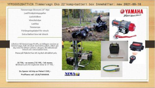 YFM30052BATTVIN Timmervagn Eko 22'' komp+batteribox
