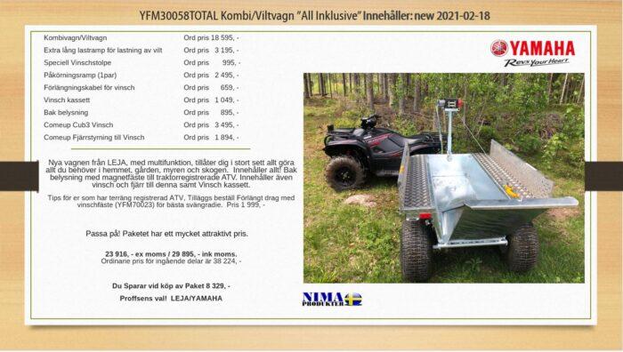 YFM30058TOTAL Kombi/viltvagn ''All Inklusive''