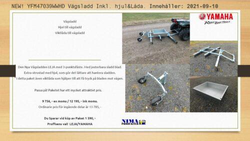 YFM47039WWHD Vägsladd inkl. hjul & låda